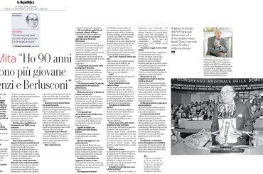 """Su """"La Repubblica"""" intervista a De Mita per i suoi novant'anni"""